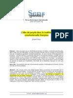 La Idea de Pueblo en La Tradición Constitucional Francesa