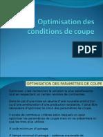 Optimisation Des Conditions de Coupe