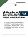 Risque de Credit PME