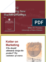 Developing new market offerings Kotler