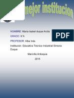 Talleres de La Institucion Maria Isabel 9 A