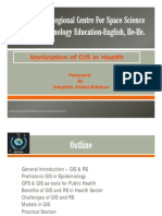 Application of GIS in Health_CONSULTANCY UNIT Ok