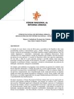 FÓRUM NACIONAL DE REFORMA URBANA – FNRU