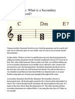 What is a Secondary Dominant Chord