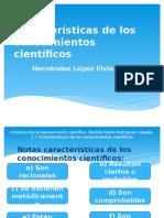 Características de Los Conocimientos Científicos