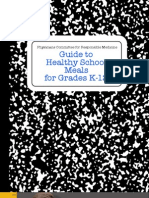 Guide to Healthy School Meals for Grades K-12