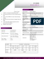 Product Sheet - V1000