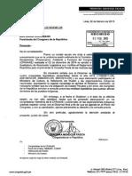 Oficio enviados a Pariona y Ana María Solórzano.