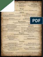 emmets menu (text)