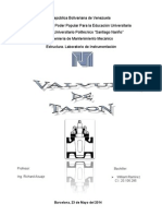 Informe Valvula Tapon Lab. Instrumentacion