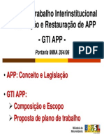 AppGrupo de Trabalho Interinstitucional Preservação e Restauração de APP -GTI APP