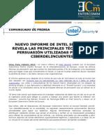 NP McAfee - Nuevo informe de Intel Security revela las principales técnicas de persuasión utilizadas por los ciberdelincuentes