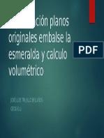 Digitalización Planos Originales Embalse La Esmeralda y Calculo