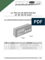 12. PEÇAS DE REPOSIÇÃO AC RF 4050 SLIM