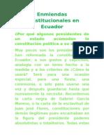 Enmiendas Constitucionales en Ecuador