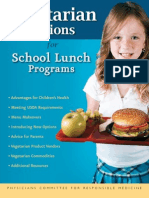 Vegetarian options for school lunch programs