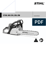 STIHL MS210 Manual