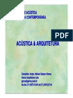 Acustica e Arquitetura