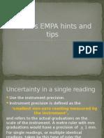 Physics EMPA Hints and Tips (2)