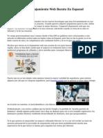 Comparativa De Alojamiento Web Barato En Espanol