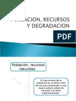 Poblacion, Recursos y Degradacion Ambiental