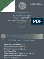 Jindal FY16 Proposed Budget