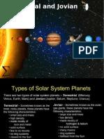 Terrestrial and Jovian Planetse