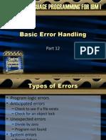 Basic Error Handling