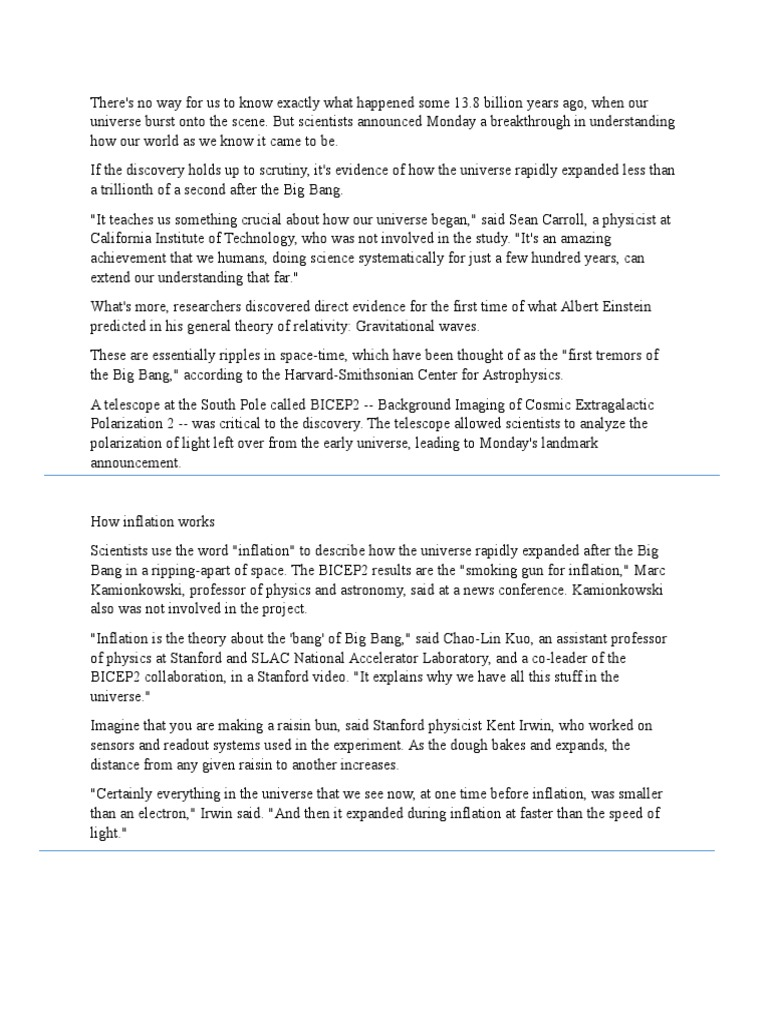 worksheet How The Universe Works Big Bang Worksheet article 1 sectioned gravitational wave cosmic microwave background
