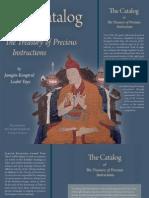 DNZ_Catalog_Barron, Richard, Trans_2013_The Catalog of the Treasury of Precious Instructions_Tsadra Foundation