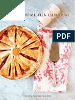 Houghton Mifflin Harcourt 2014-2015 Culinary Catalog