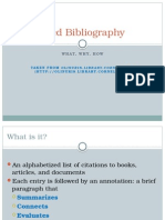annotated bibliography overview