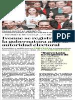 25-02-2015 Ivonne se registra para la gubernatura ante la autoridad electoral