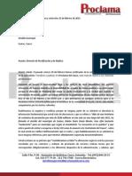Respuesta Al Derecho de Replica y de Rectificación Proclama Del Cauca