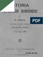 Nicolae Iorga - Istoria Poporului Romanesc. Volumul 3