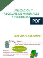 Reutilizacion y Reciclaje de Materiales y Productos