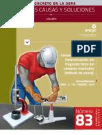 Determinacion Del Fraguado Falso Del Cemento Hidraulico (Metodo de Pasta)