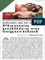 26-02-2015 Plantea política en seguridad