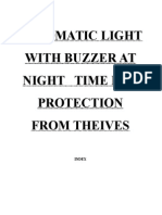 Automatic Light With Buzzer at Night Time for Protection From Theives.doc