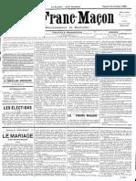 1885 - Le Franc Maçon n°5 -Samedi 24 Octobre 1885 - 1ère année.pdf