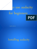 4.How to Use Audacity Tutorial