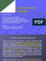 Model Acreditiv Documentar Explicatii