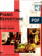Essential Piano Repertoire of the 17th, 18th, & 19th Centuries Preparatory Level
