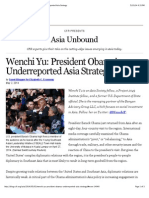 President Obama's Underreported Asia Strategy