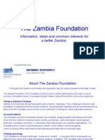 The Zambia Foundation - A New Think Tank