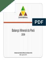 Balanço  Mineral Pará 2009