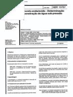 NBR 10787 - Concreto Endurecido Determinacao Da Pentracao Da Agua Sob Pressao