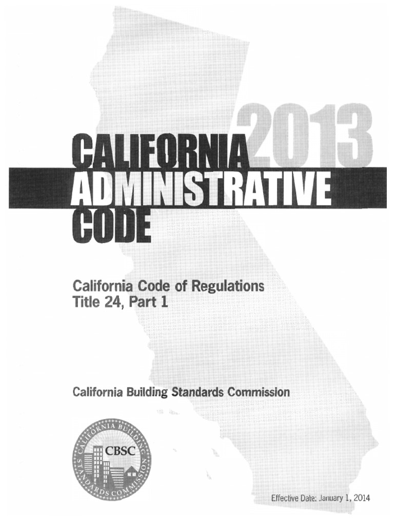 Cbc2013 Admin Building Code Green Building