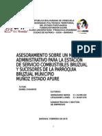Proyecto Asesoramiento Sobre Manual Administrativo