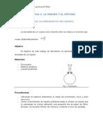 Determinación de la densidad de un sólido